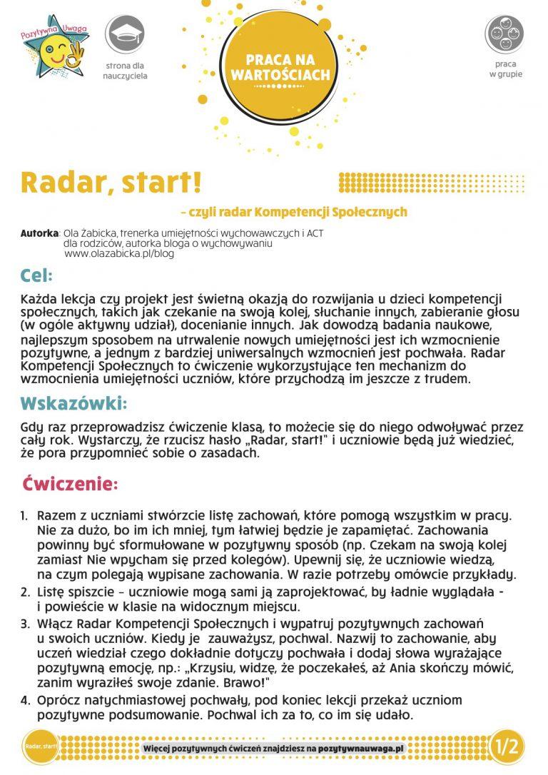 Radar, start!